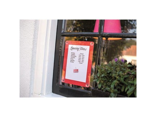 Securit Window poster display Grey A4