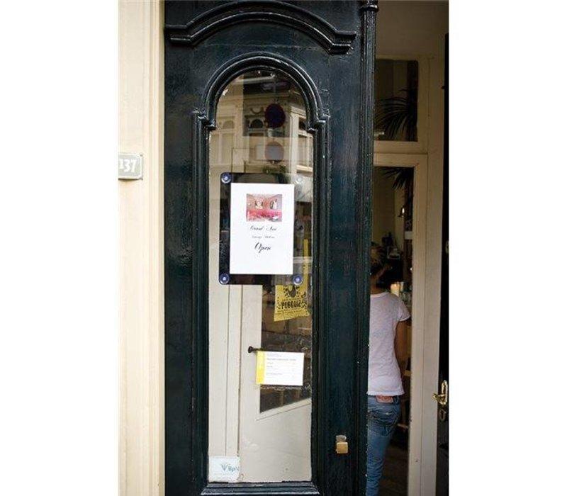 Securit Fenster Poster-Display Schwarz A4