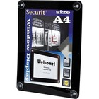 Securit Fenster Poster-Display Schwarz A4