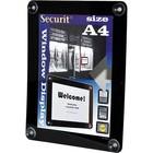 Securit Window poster display Black A4