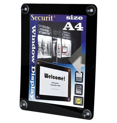 Securit Raam poster display Zwart A4