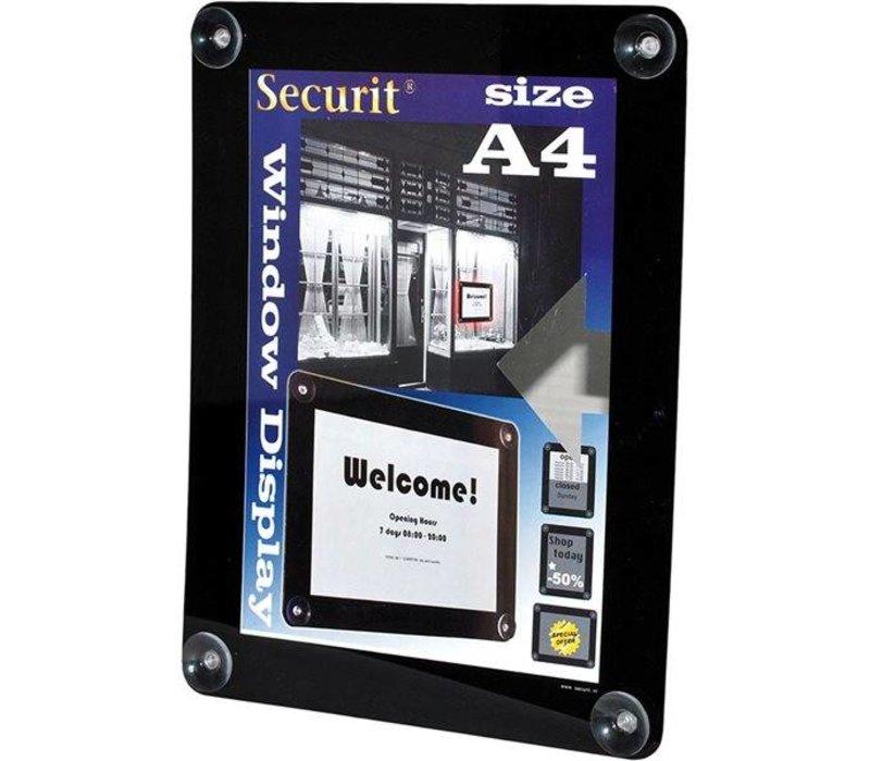 Securit Raam poster display Zwart A4