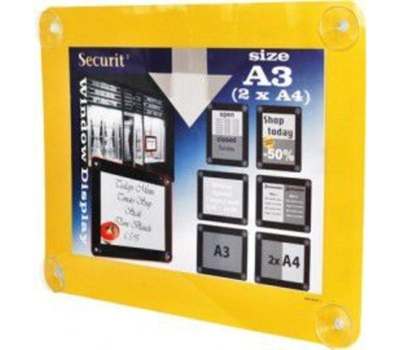 Securit Window poster display Yellow A3