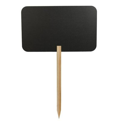 Securit Silhouette Rechteck Tafel auf Stick - Enthält 1 Chalk Stift