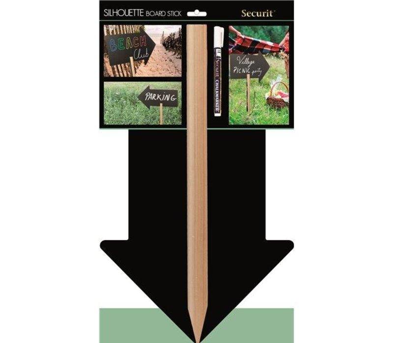 Securit Silhouet Krijtbord Pijl op stok - Incl 1 Krijtstift
