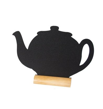 Securit Tafel-Tabelle Holz Silhouette Teapot Inkl. Chalk Stift