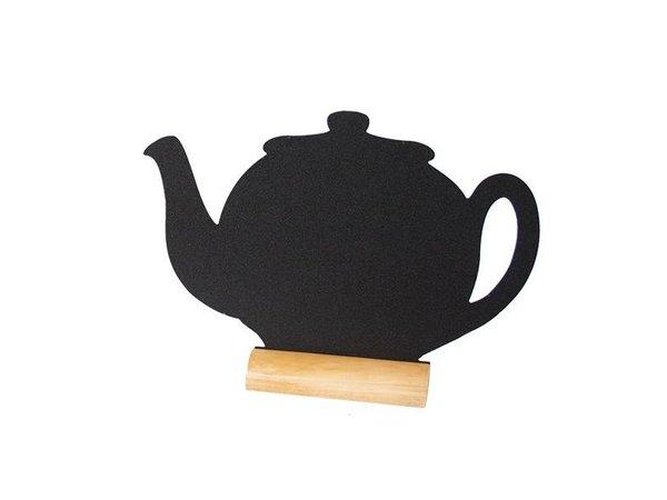 Securit Chalkboard Table Wood Silhouette Teapot Incl. Chalk Stift