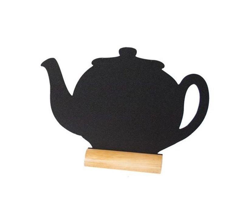 Securit Tafel-Tabelle Holz Silhouette Teapot Inkl. Chalk Stift