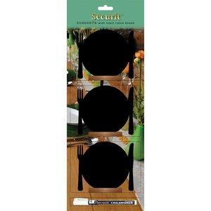 Securit Tafel-Tabelle Holz Silhouette Platte 3 Stück inkl. Chalk Stift