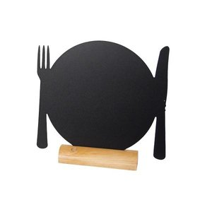 Securit Chalkboard Table Wood Silhouette Plate Incl. Chalk Stift