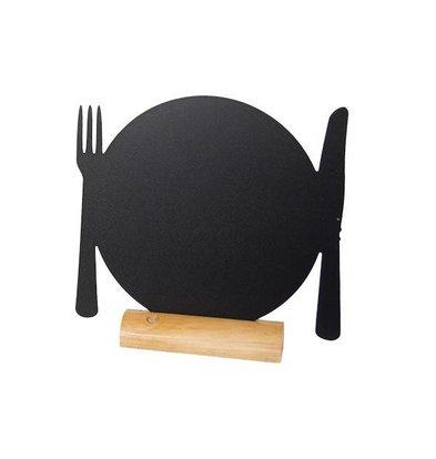 Securit Tafel-Tabelle Holz Silhouette Platte Inkl. Chalk Stift