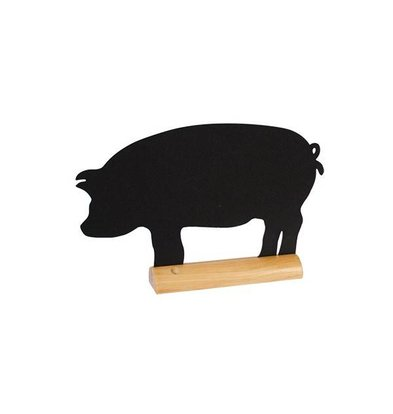 Securit Tafel-Tabelle Holz Silhouette Schwein Inkl. Chalk Stift