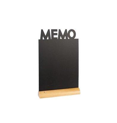 Securit Chalkboard Table Wood Silhouette Memo Incl. Chalk Stift