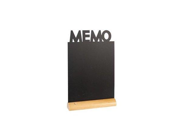 Securit Tafel-Tabelle Holz Silhouette Memo Inkl. Chalk Stift