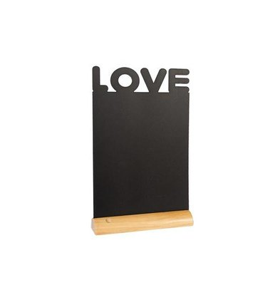 Securit Chalkboard Table Wood Silhouette Love Incl. Chalk Stift