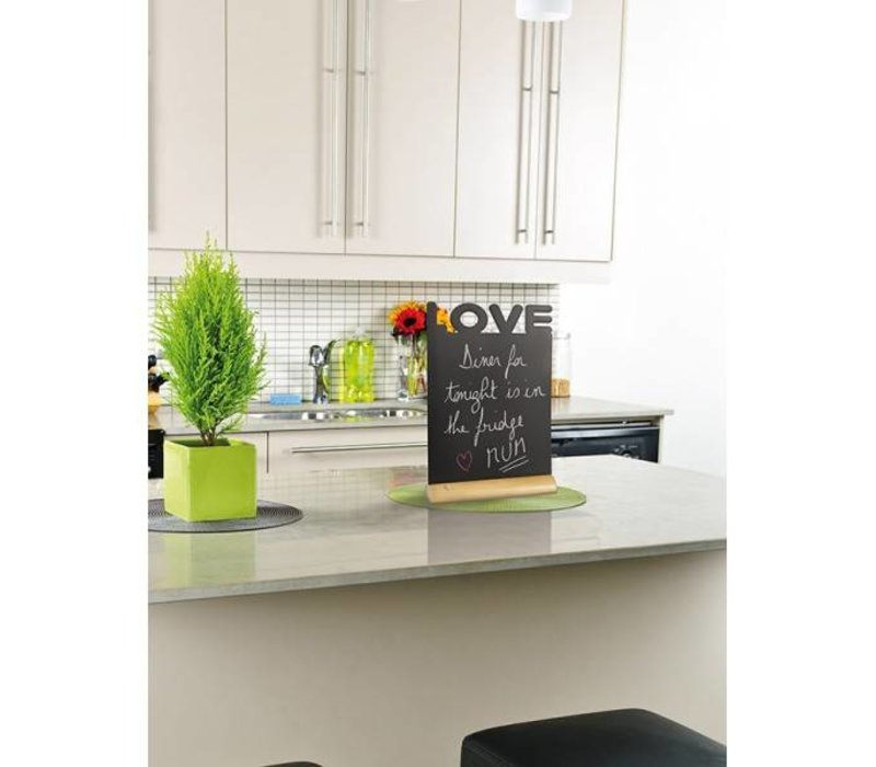 Securit Chalkboard Table Wood Silhouette Love Incl. Chalk Stift