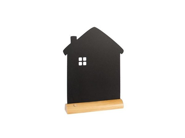 Securit Tafel-Tabelle Holz Silhouette Haus Inkl. Chalk Stift