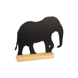 Securit Tafelkrijtbord Wood Silhouet Olifant Incl. Krijtstift