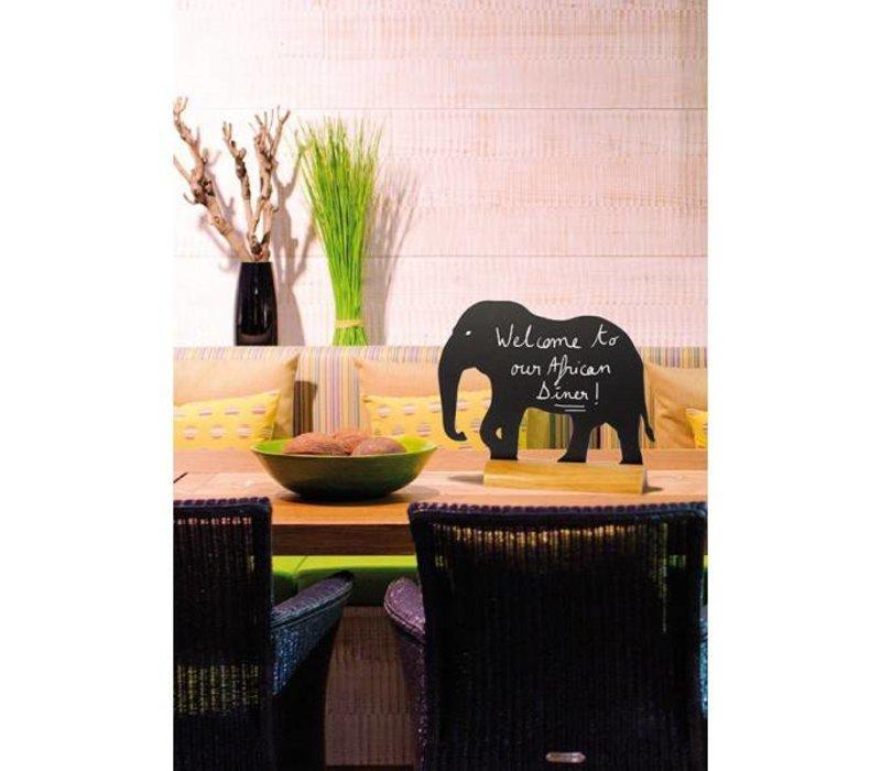 Securit Tafel-Tabelle Holz Silhouette Elephant Inkl. Chalk Stift