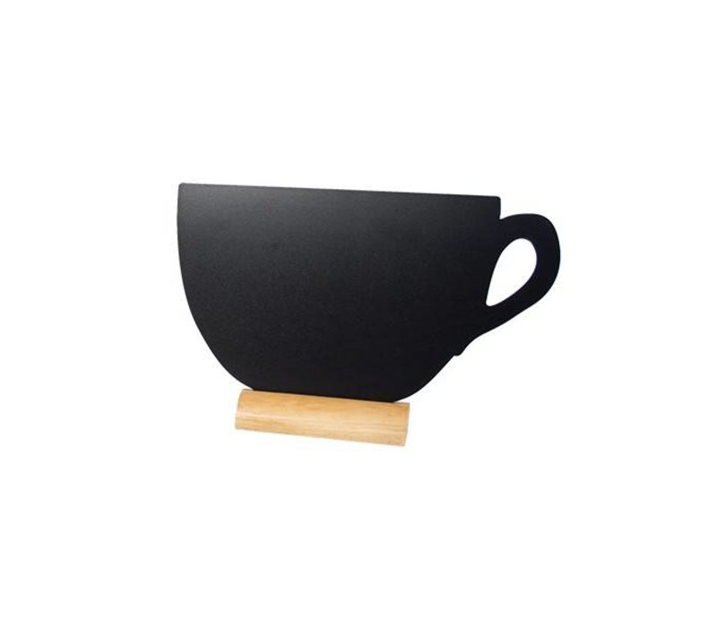 Securit Tafel-Tabelle Holz Silhouette Cup Inkl. Chalk Stift