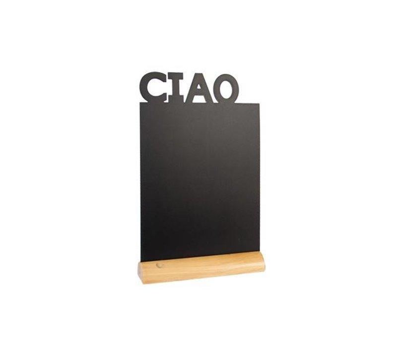 Securit Tafel-Tabelle Holz Silhouette Ciao Inkl. Chalk Stift
