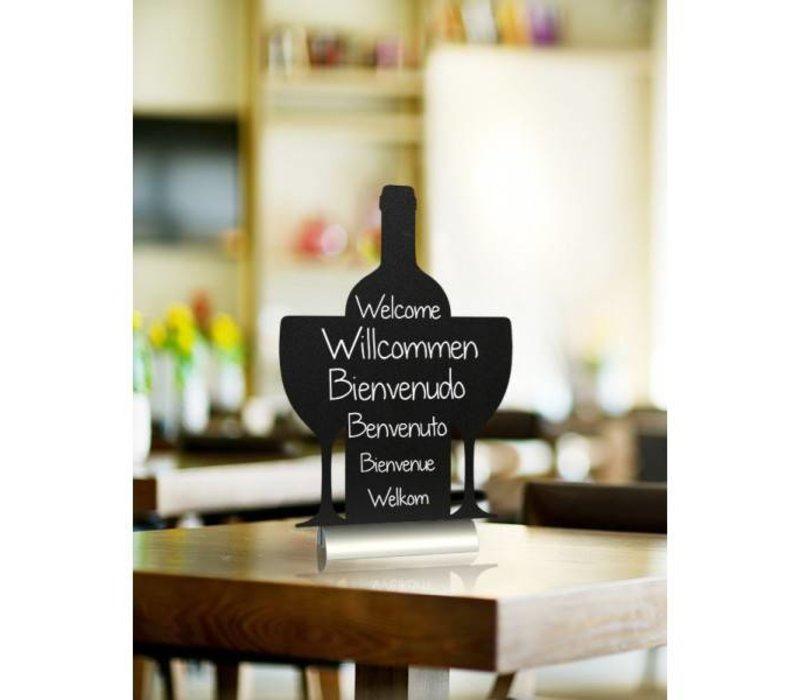 Securit Tafelkrijtbord Aluminium Silhouet Wijn Incl. Krijtstift
