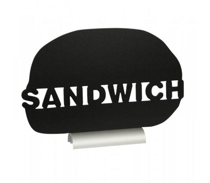 Securit Chalkboard Table Aluminium Silhouette Sandwich Incl. Chalk Stift