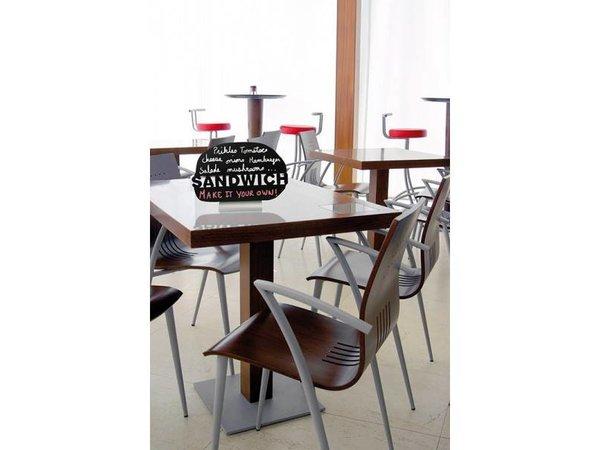 Securit Tafel-Tabelle Aluminium Silhouette Sandwich Inkl. Chalk Stift