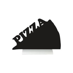 Securit Chalkboard Table Aluminium Silhouette Pizza Incl. Chalk Stift