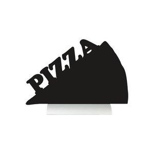 Securit Tafel-Tabelle Aluminium Silhouette Pizza Inkl. Chalk Stift