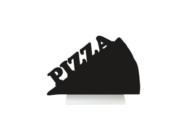 Securit Tafel-Tabelle Aluminium Silhouette Pizza Inkl. Chalk Stift