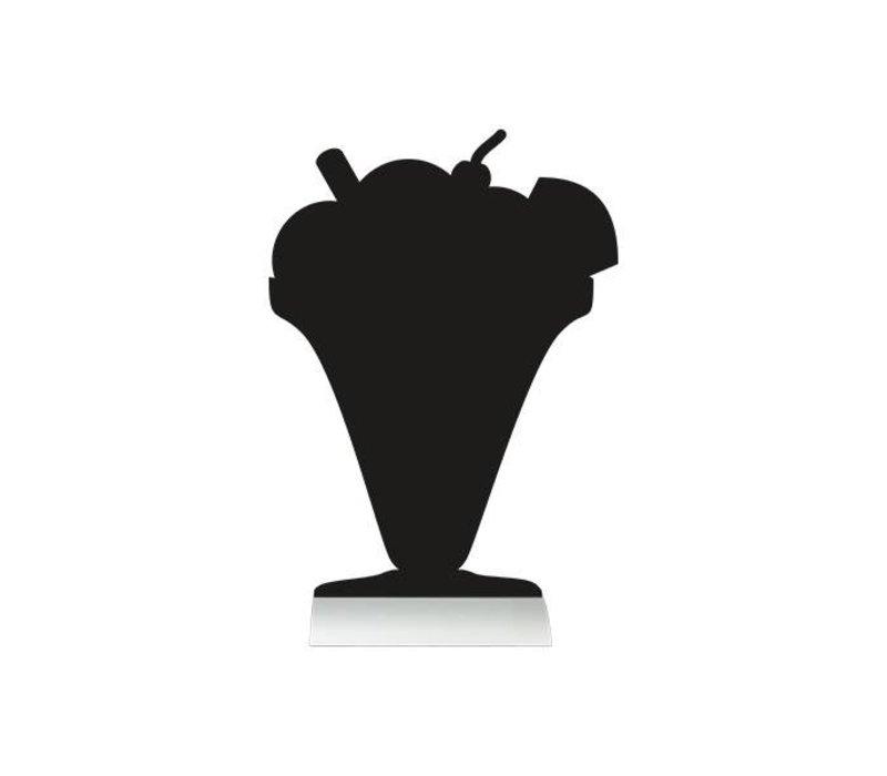Securit Tafelkrijtbord Aluminium Silhouet Ijs Incl. Krijtstift