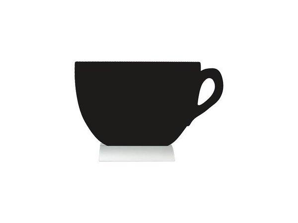 Securit Tafelkrijtbord Aluminium Silhouet Koffiekop Incl. Krijtstift