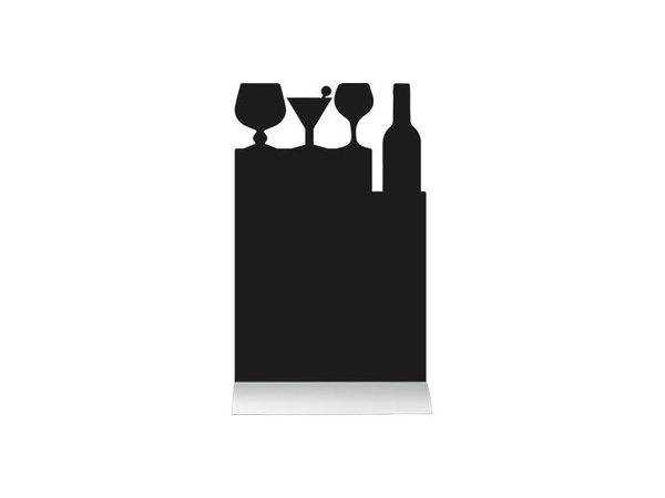 Securit Chalkboard Table Aluminium Silhouette Cocktail Incl. Chalk Stift