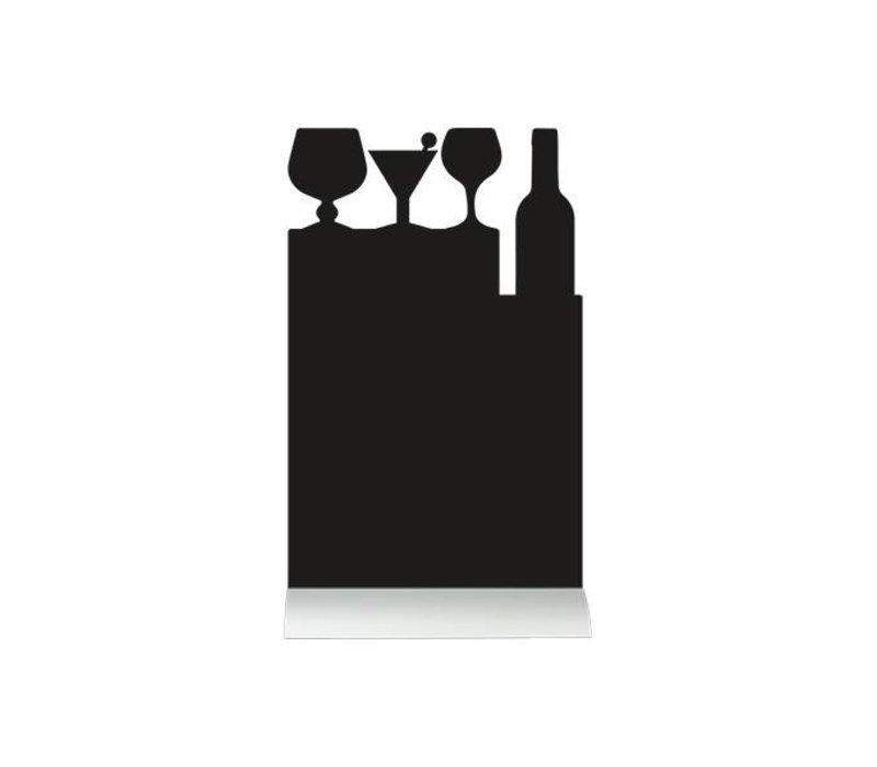 Securit Tafelkrijtbord Aluminium Silhouet Cocktail Incl. Krijtstift