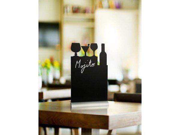 Securit Tafel-Tabelle Aluminium Silhouette Cocktail Inkl. Chalk Stift