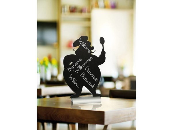 Securit Tafelkrijtbord Aluminium Silhouet Chef Incl. Krijtstift