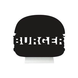 Securit Tafel-Tabelle Aluminium Silhouette Burger Inkl. Chalk Stift