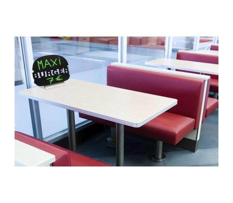 Securit Tafelkrijtbord Aluminium Silhouet Burger Incl. Krijtstift