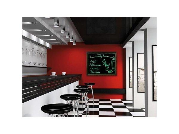 Securit Krijtbord met LED-verlichting - 62 x 100 cm - Incl. Krijtstift