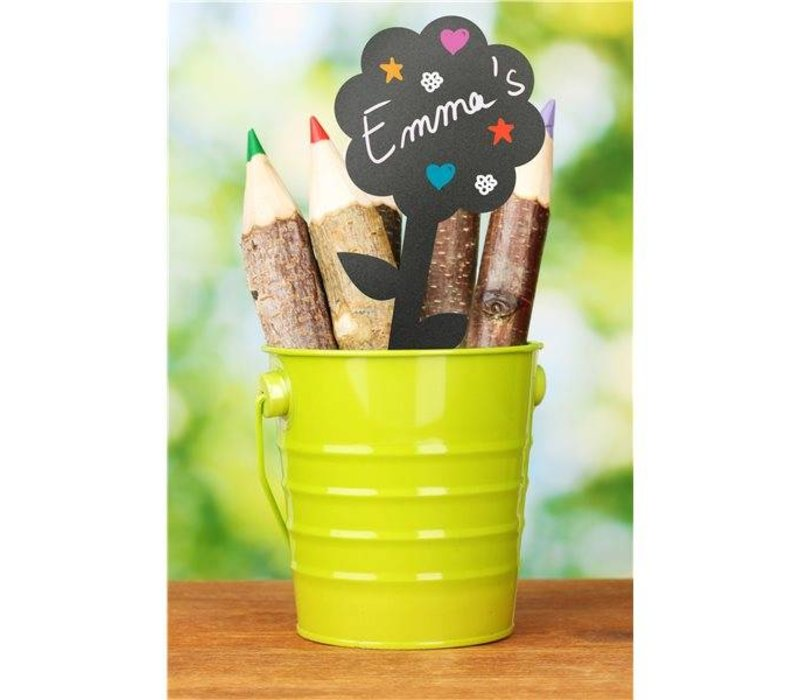 Securit Tag Silhouette Blumen 5x - Inkl 1 Chalk Stift