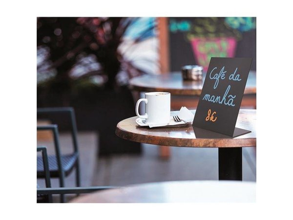 Securit Chalkboard Acrylic Table A5 - 3 pieces
