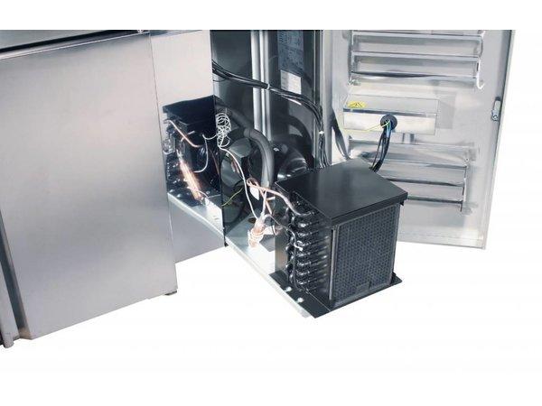 Saro Pizzawerkbank L - 2-Deurs + 8x1/3GN + Graniet Werkblad - Bakkerij 600x400mm - 1500mm(b)