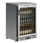 Polar Bar Kühlschrank Einzel-Pendeltür mit Edelstahl - 104 330ml-Flaschen - 140 Liter - 600x520x (H) 920mm