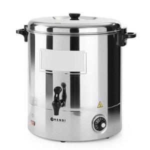 Hendi Warme dranken ketel RVS | Enkelwandig | Tapkraan | 30 Liter