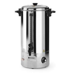 Hendi Hot drinks boiler | Single walled stainless steel | faucet | 20 liter