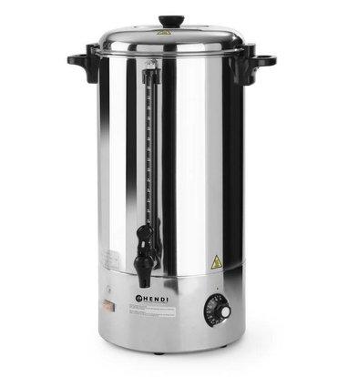 Hendi Warme dranken ketel | Enkelwandig RVS | Tapkraan | 20 Liter