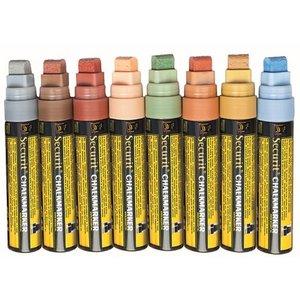 Securit Dikke Krijtstiften XXL - 8 stuks - EARTH Kleuren - KLEURENMIX - 7/15mm