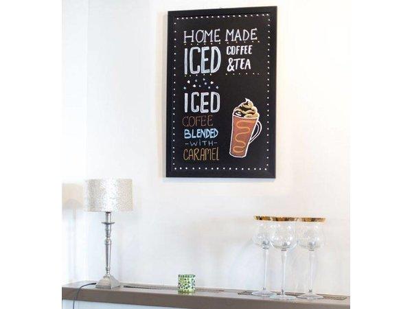 Securit Woody wall Chalkboard - Teak - Choose from 5 Sizes
