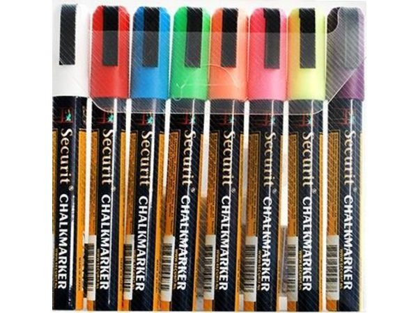 Securit Securit Dunne Krijtstiften - 8 stuks - KLEURENMIX - 2/6 mm